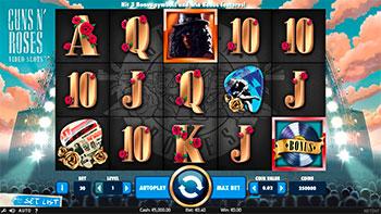 Screenshot of Guns n' Roses Slot